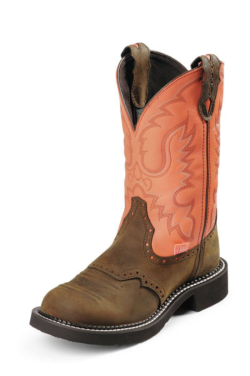 05eaf949429 Justin Gypsy Women's Peach Bay Apache Riding Cowgirl Boots - on sale ...