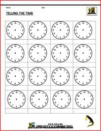 Telling the Time Blank Clock Template | Educational | Pinterest