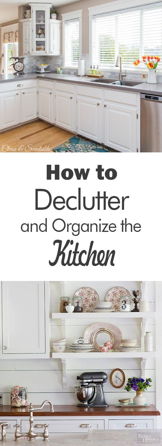 How to Declutter and Organize the Kitchen - 101 Days of Organization ...