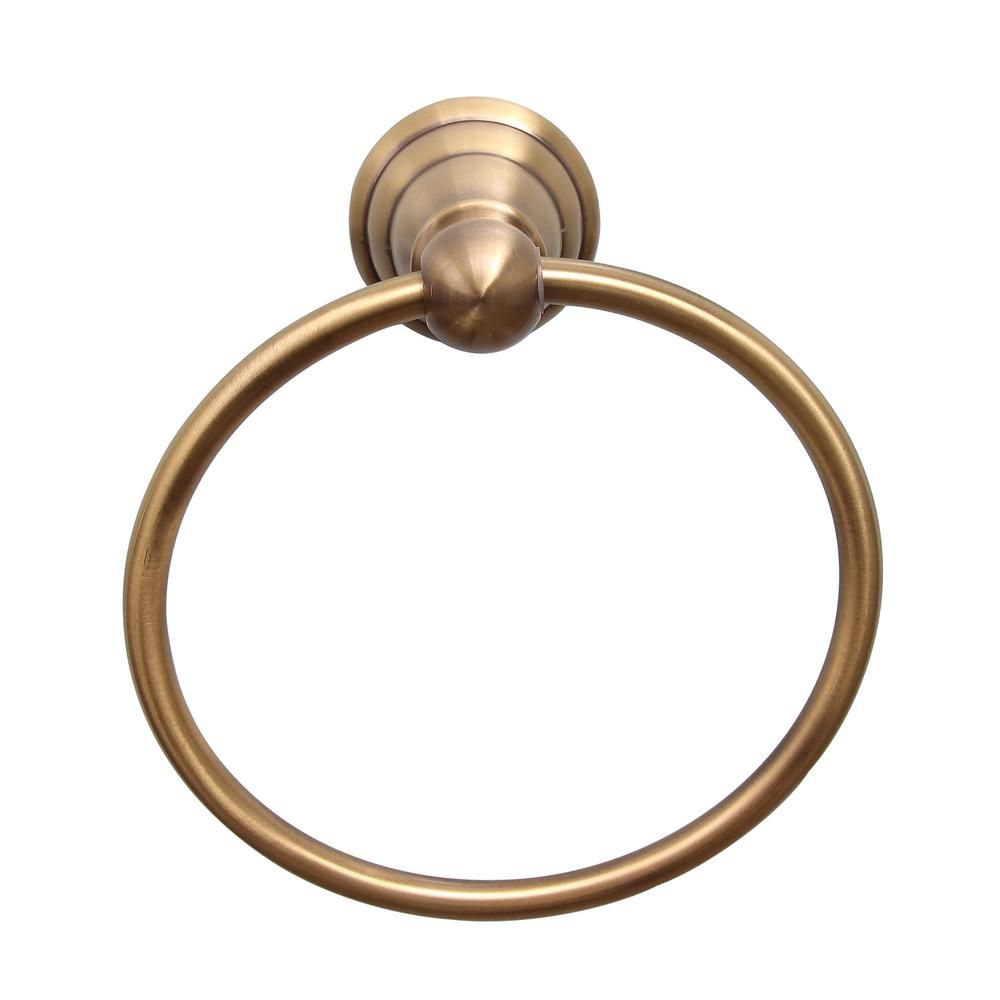 Barclay Products Sherlene Towel Ring In Antique Brass Itr2050 Ab The Home Depot In 2021 Barclay Products Towel Rings Antiques
