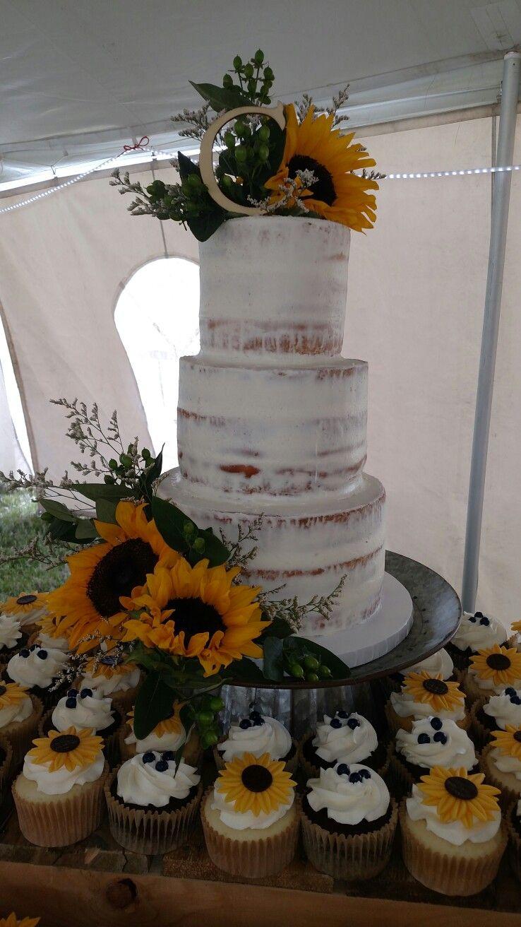 sunflower naked wedding cake diy pinterest sunflowers wedding cake and cake. Black Bedroom Furniture Sets. Home Design Ideas