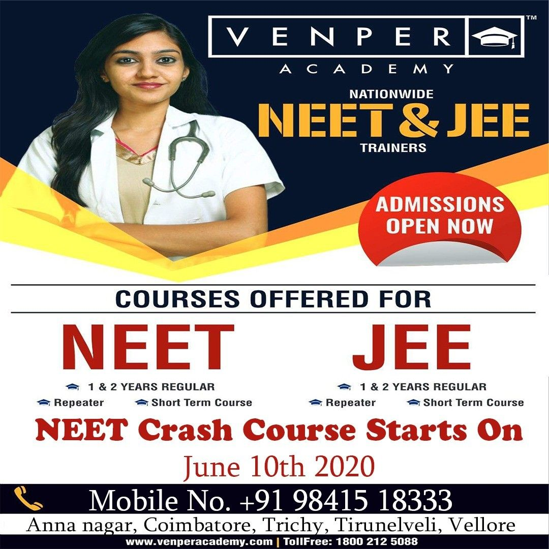 Neet Jee Onlineclass Entranceexam Medicalentrance Engineeringentrance Discount Venper Academy Is The Premium Coaching Ce In 2020 Crash Course Coaching Jee Exam