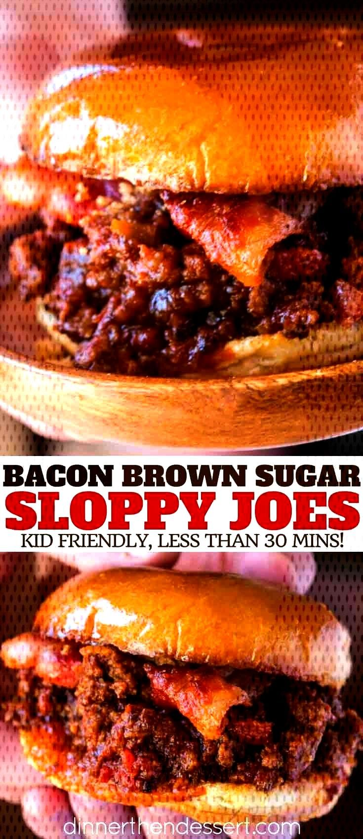 Brown Sugar Sloppy Joes are the perfect sloppy joe with garlic, salty bacon and sweet brown sugar.