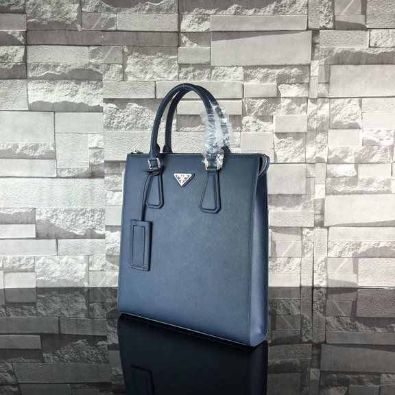 41a7a4a4eded 2016 Mens Prada Saffiano Leather Briefcase 2VG079 in Blue   Prada ...