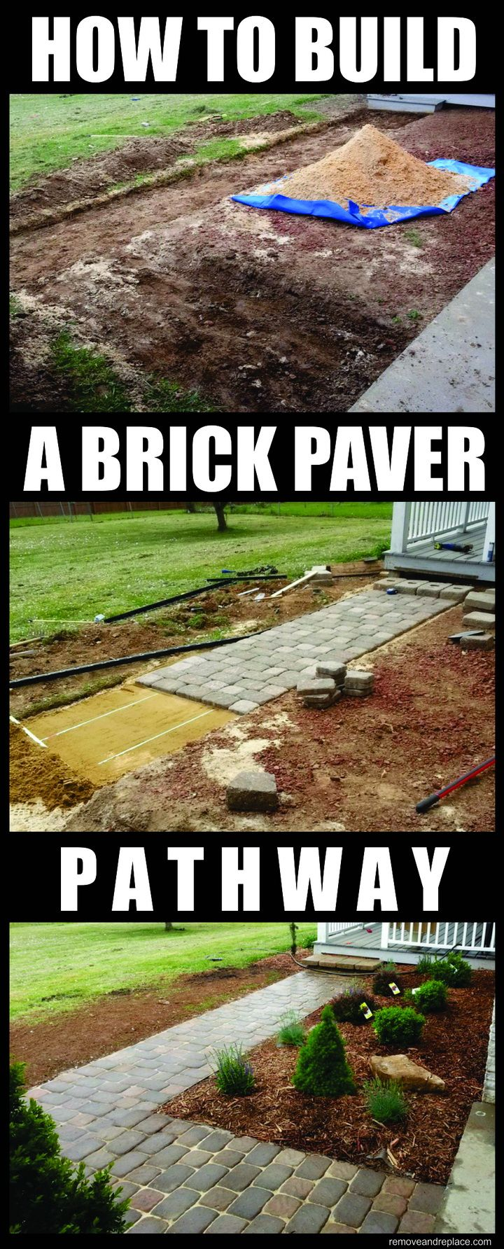 How to build a home entrance pathway with inexpensive for Affordable walkway ideas