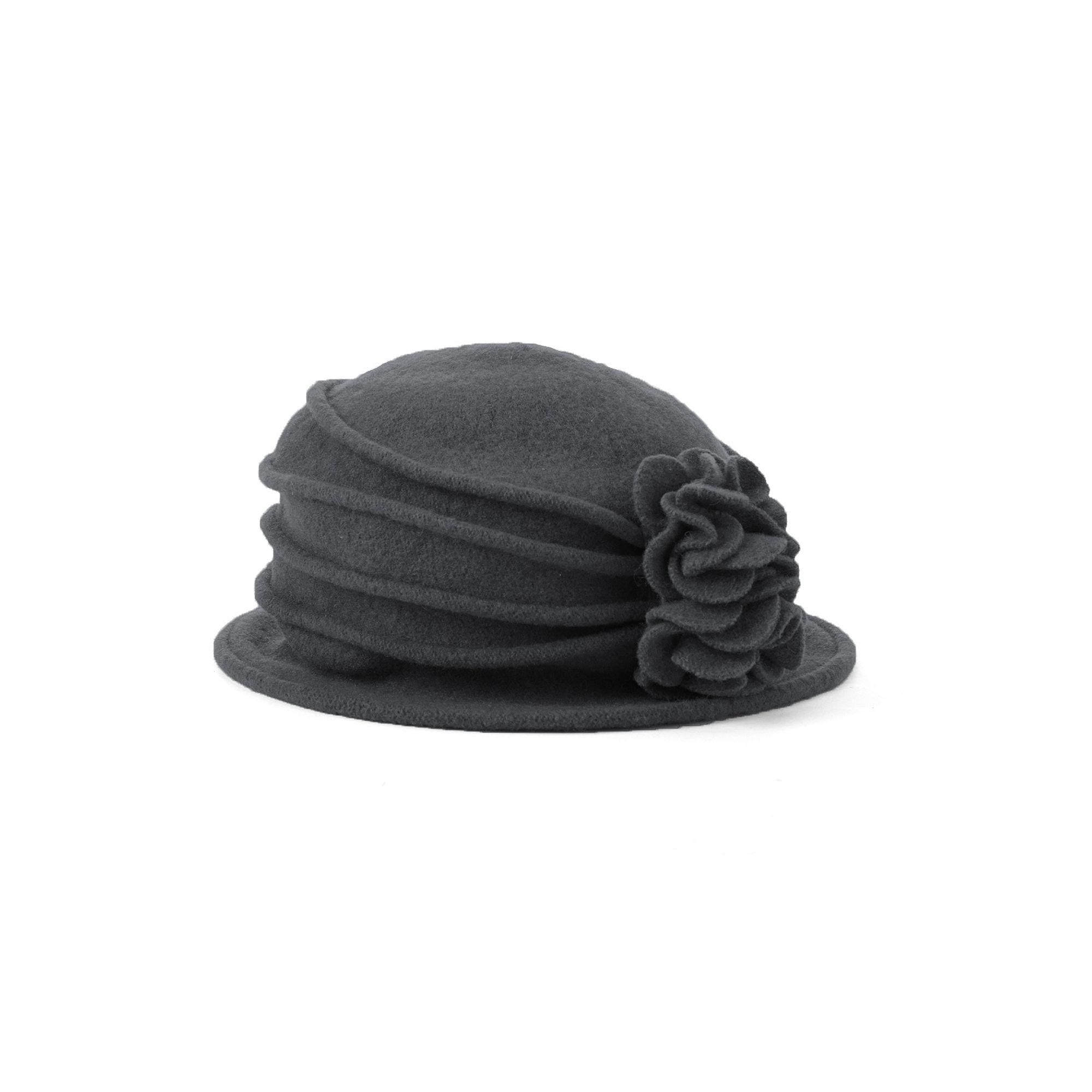 0a85be7799f Scala Knit Wool Flower Cloche Hat