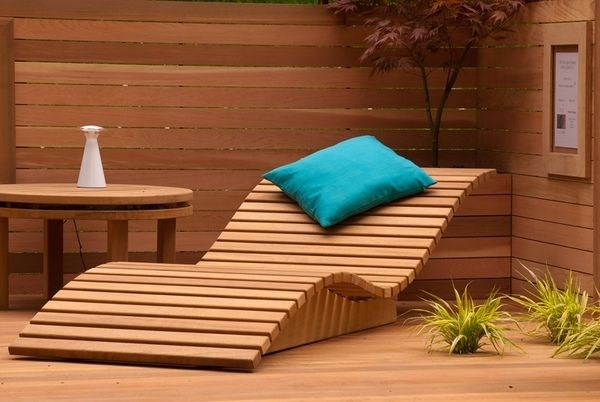 Wooden Sun Loungers Contemporary Outdoor Furniture Design