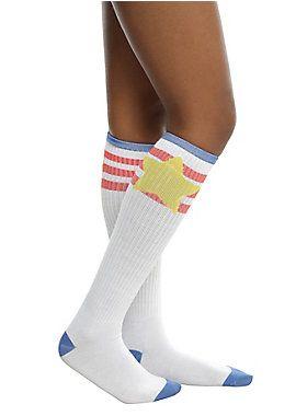 3427ac8ee7f Believe in Steven    Steven Universe Star Knee High Socks