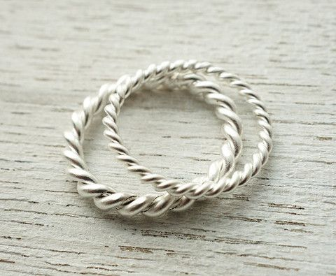Shlomit Ofir Rope Ring Set.   http://www.shopcloakroom.com/collections/jewelry/products/rope-ring-set