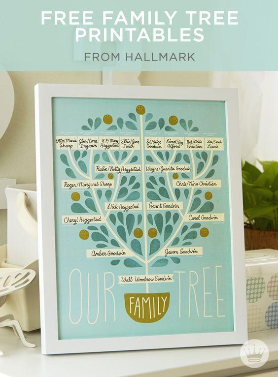 Newsworthy Nursery Dcor Free Family Tree And Birth Record