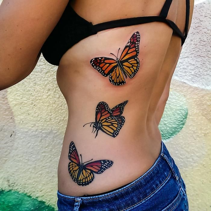 8ec49b637 Monarch Butterflies Tattoo by Adam Sky, Rose Gold's Tattoo, San Francisco,  California - Imgur
