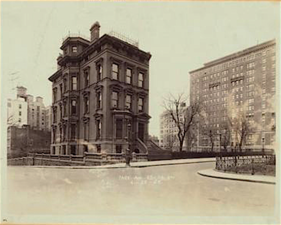 4th Ave 93rd-04th St Ehret's mansion 1882, with Hell Gate