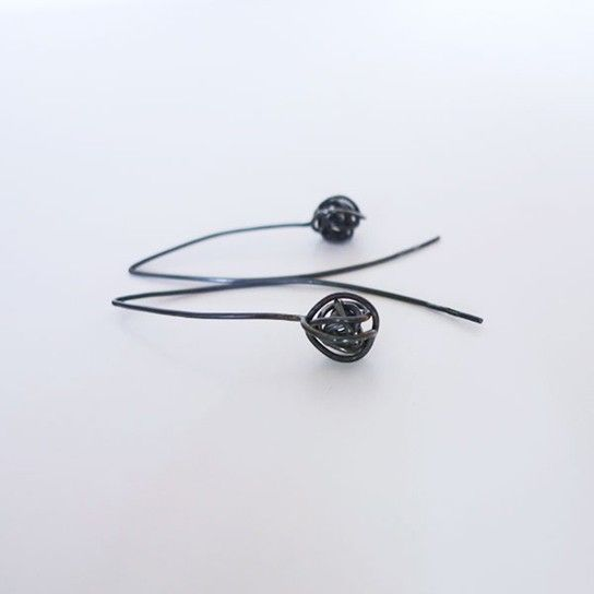 Flax Seeds earrings in Ethical sourced Sterling Silver by Anna Häggström at SMID/Stockholm.