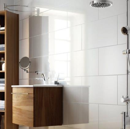 White Gloss White Tile Bathroom Walls White Bathroom Tiles Bathroom Wall Tile