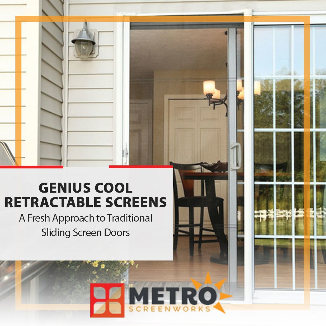 Integrate A Fresh Approach To Traditional Sliding Screen Doors Into Your Home With Genius Cool Re In 2020 Sliding Screen Doors Screen Door
