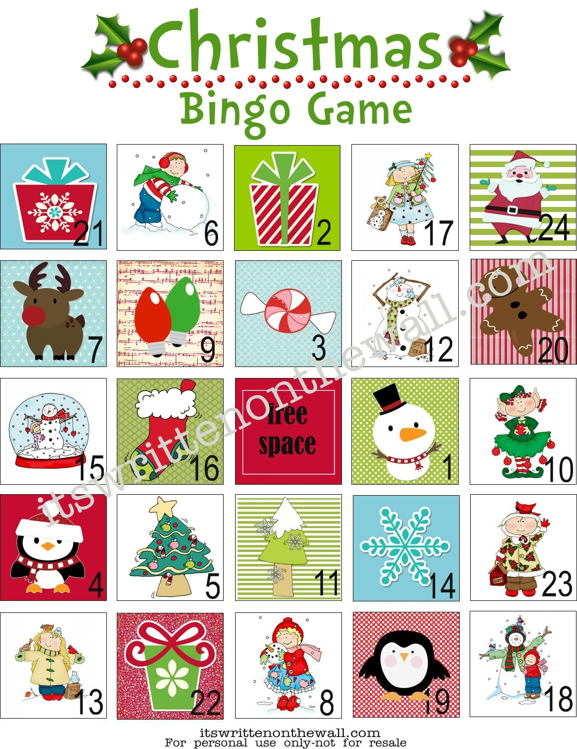 Christmas Bingo A Fun Game For Christmas Parties At Home Or School