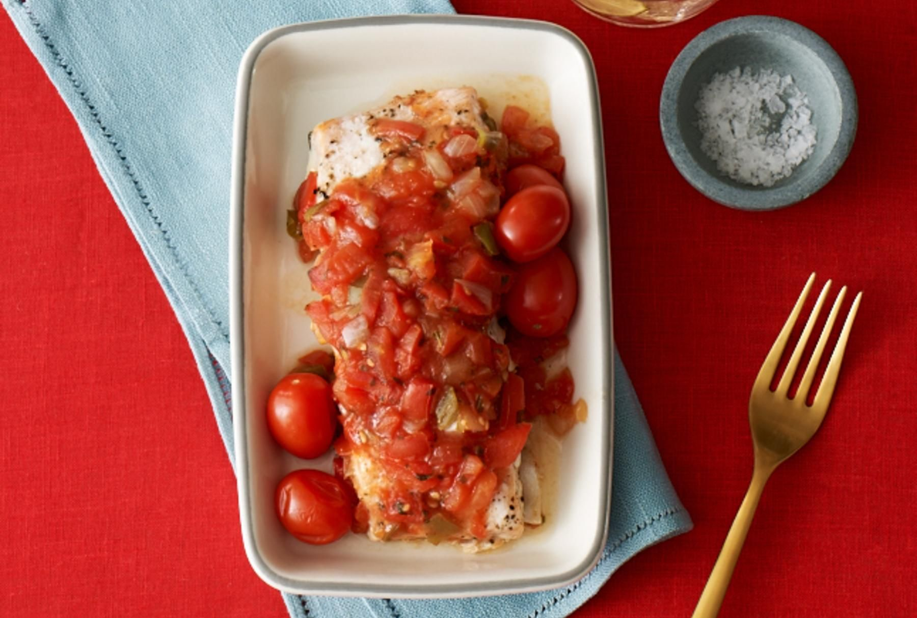 Salsa Baked Salmon.