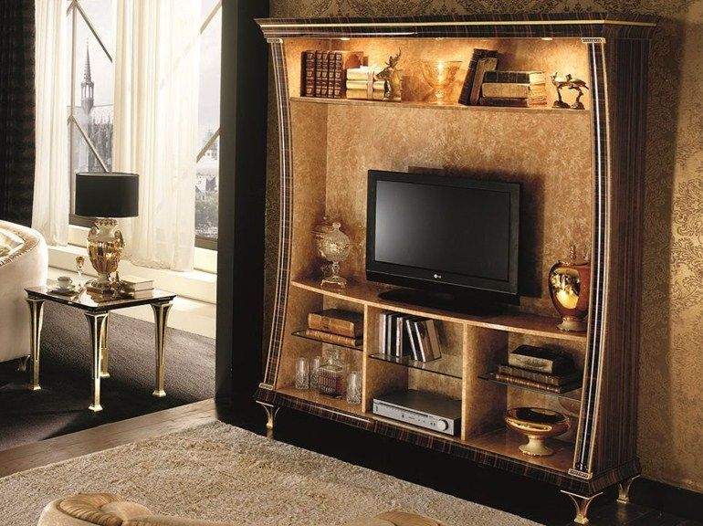 Mueble modular de pared de estilo art déco. Colección Rossini by Arredoclassic.