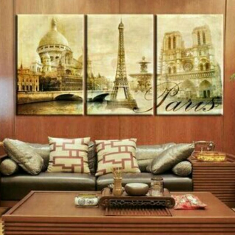 A Day in Paris Canvas Wall Art Set **WORLDWIDE SHIPPING AVAILABLE ...