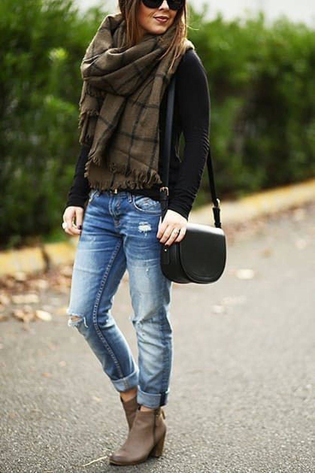 dress with ankle boots winter