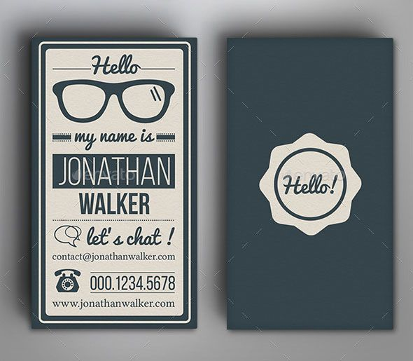 Retro Vintage Typography Business Card Business card original