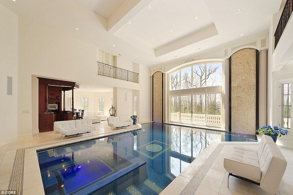 Fantastic Indoor Swimming Pools Living Rooms With Lap Lanes