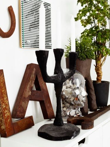 Rustic Letter A
