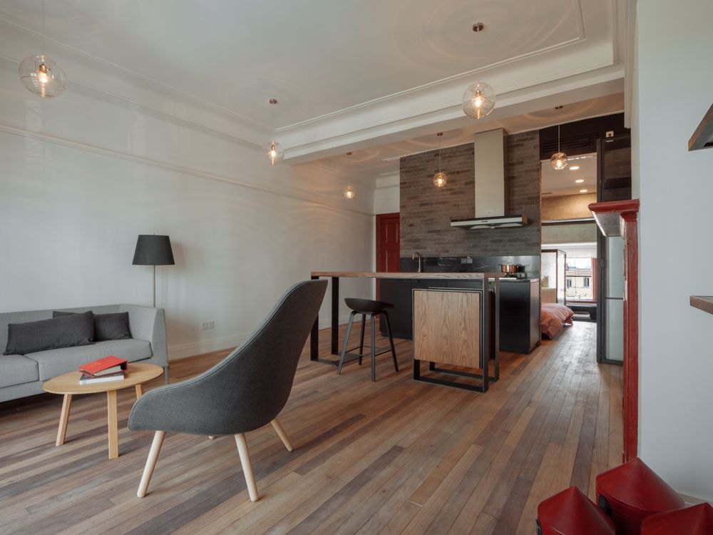 A private apartment using some Beautiful Reclaimed wood. Shanghai, China.