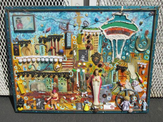 Junk Art the most amazing 3 D junk art huge hand by ecothriftshop