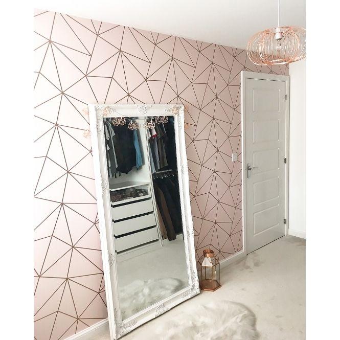 I Love Wallpaper Zara Shimmer Metallic Wallpaper Soft Pink