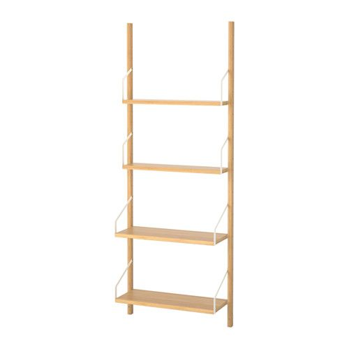 Ikea Handtuchständer svalnäs wall mounted shelf combination bamboo wall mounted