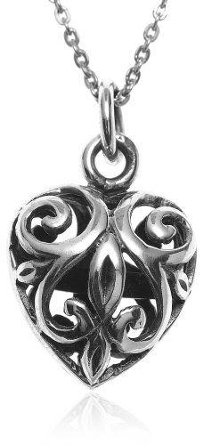 """BESTSELLER! Sterling Silver Filigree Heart Pendant, 18"""" $24.00"""