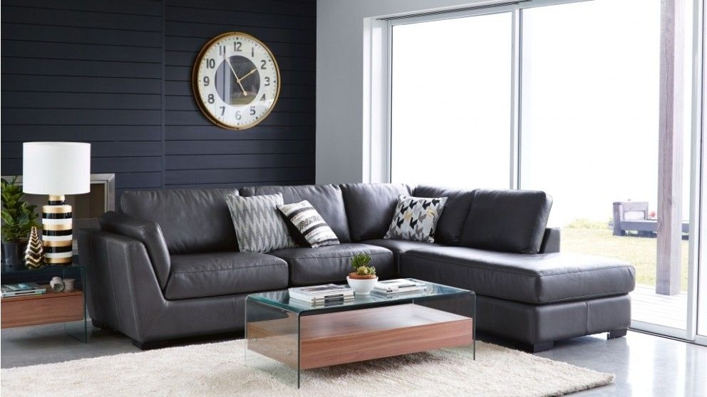 Modern Living Room Furniture Set nevada future fabric corner lounge with chaise - living room