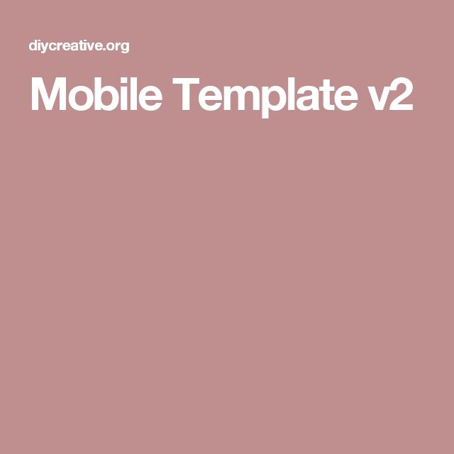 Mobile Template v2