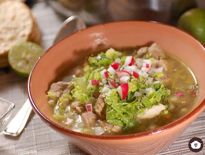 Resultado de imagen para ensalada de verdura con pozole abajo