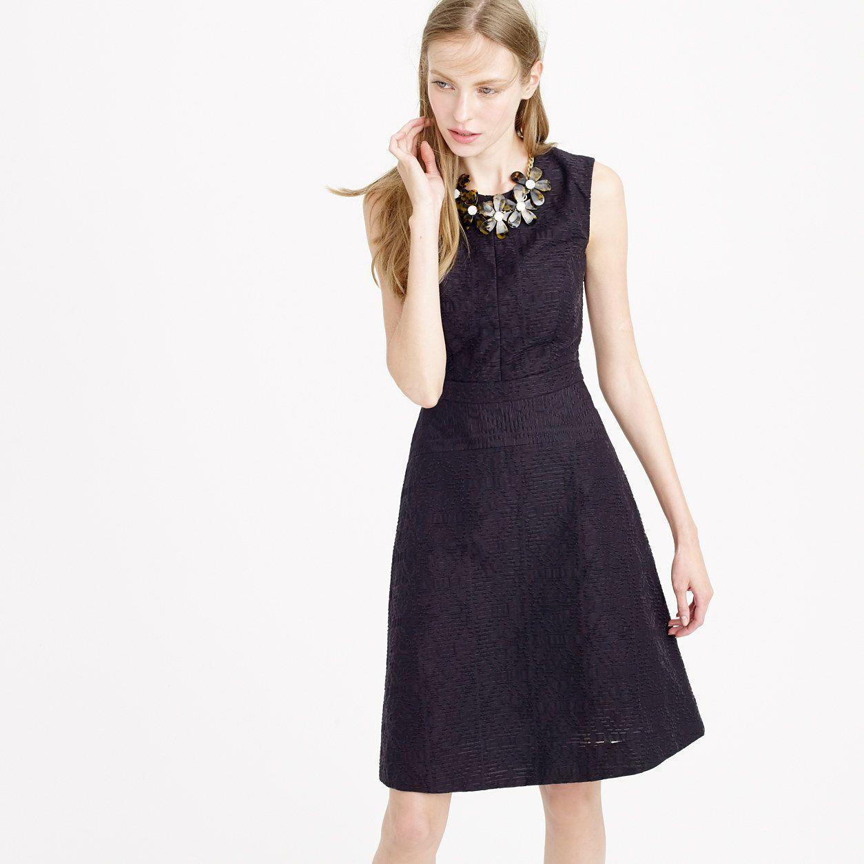 Textured eyelet jacquard dress dresses jcrew soir pinterest