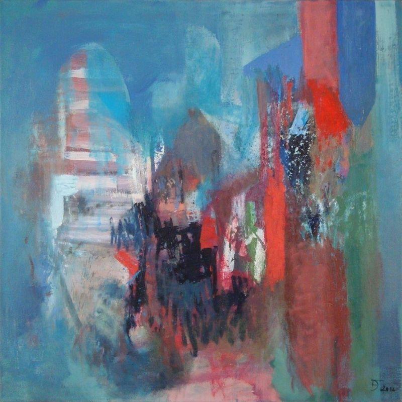 Deolinda Fonseca Submerged - 145)06 2012 Oil x Canvas 100 cm x 100 cm