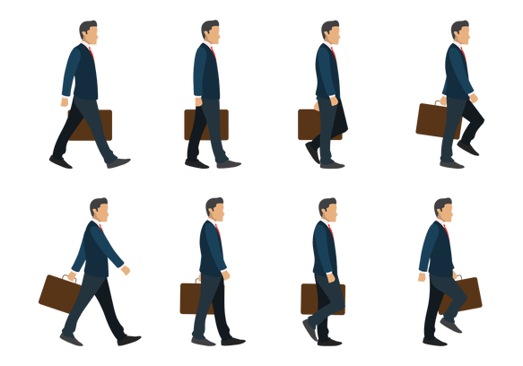 Business Man Walking Cycle Illustration Free Free Pik Psd Man Illustration Business Man Walking Man