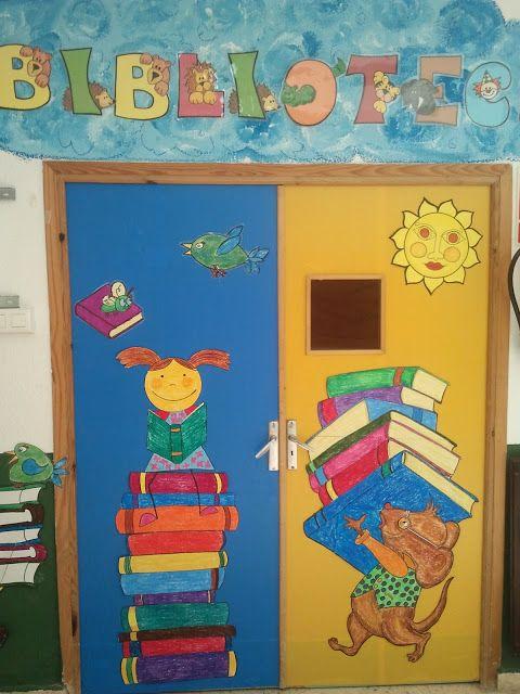 Biblioteca escolar bibliotucci nueva decoraci n de la for Decoracion puerta aula infantil