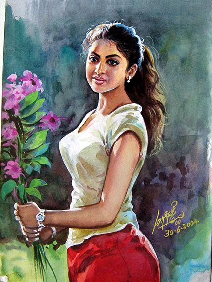 Illustration 03   Female art painting, Indian art paintings ...
