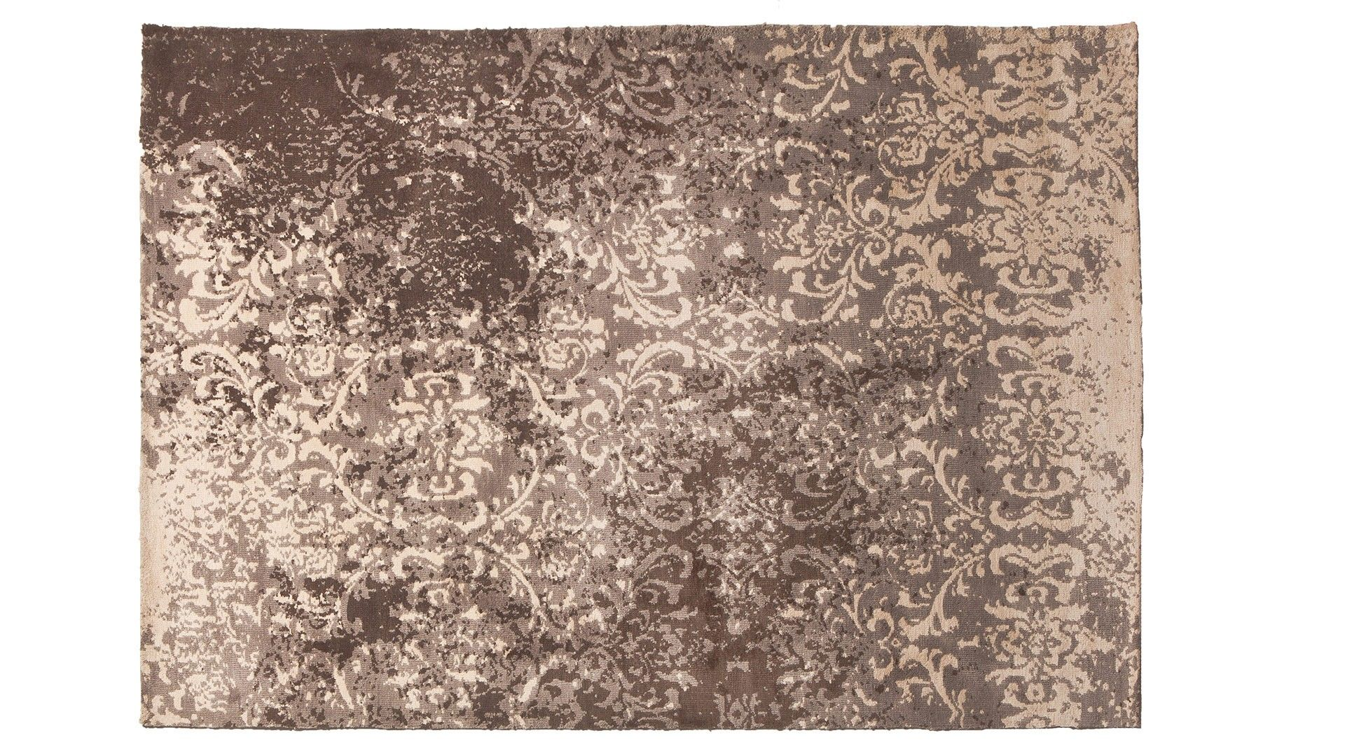 tapis contemporain marron baroque - Tapis Contemporain