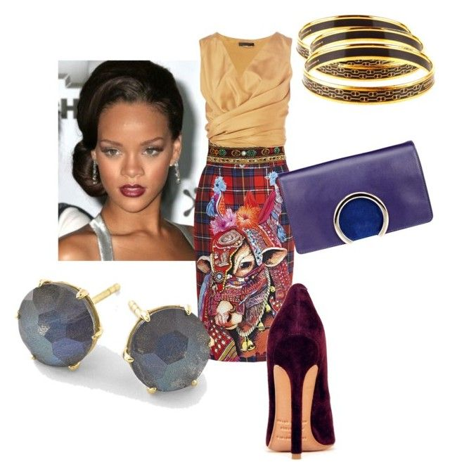 """Kris"" by someliketoshop on Polyvore featuring Stella Jean, The Row, Chloé, Ippolita and Hermès"