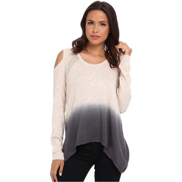 defa67d1703596 DKNY Jeans Dip Dye Cold Shoulder Sweater Women s Sweater