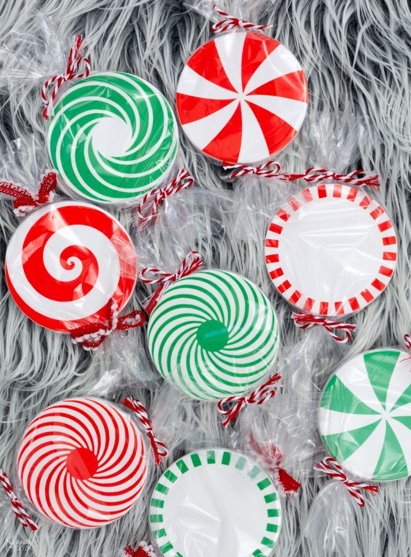 DIY Peppermint Candy Coasters in 2020 Fun holiday gift