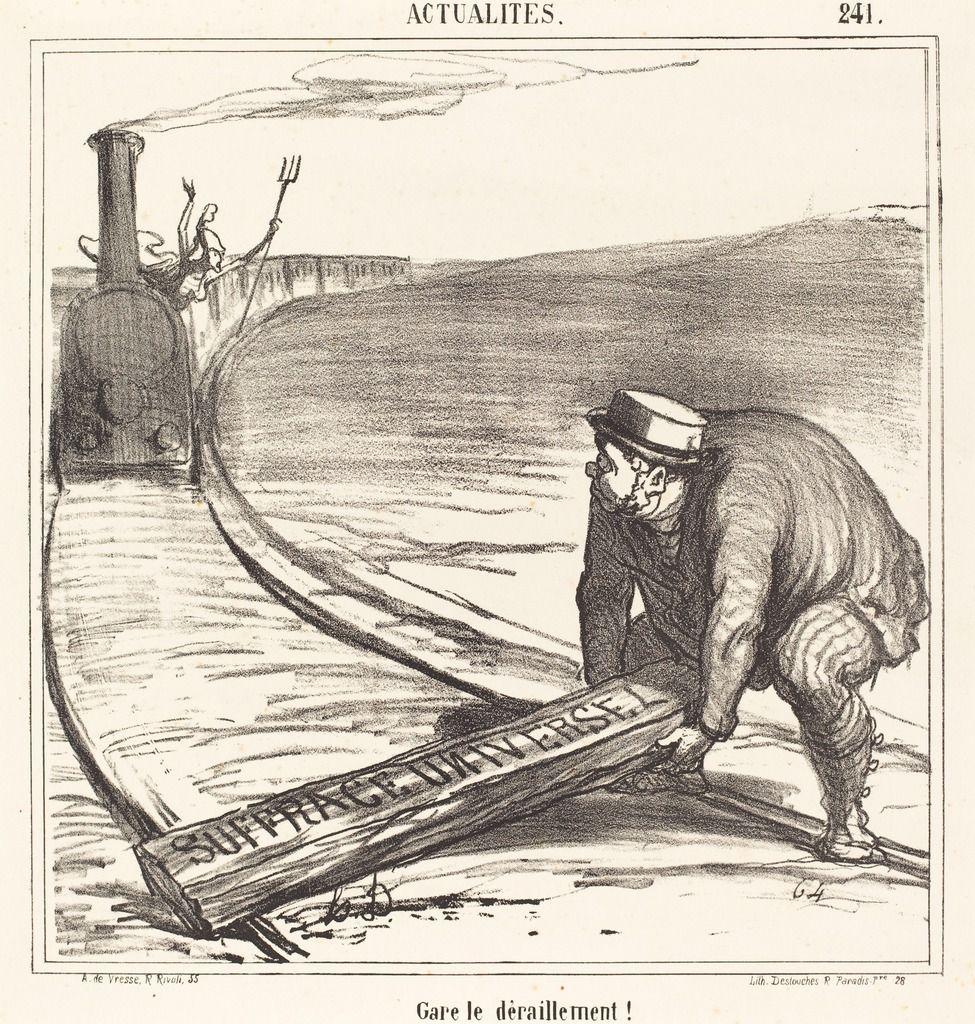 Gare le déraillement! | Honoré Daumier, Gare le déraillement! (1866 ...