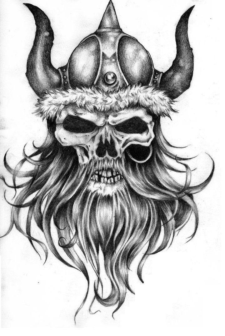VikingSkullTattoo.jpg (720×1076) Viking tattoo design