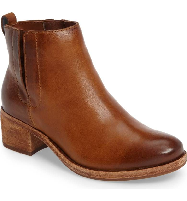 a55f58fbe677 Mindo Chelsea Bootie KORK-EASE® in Brown Leather