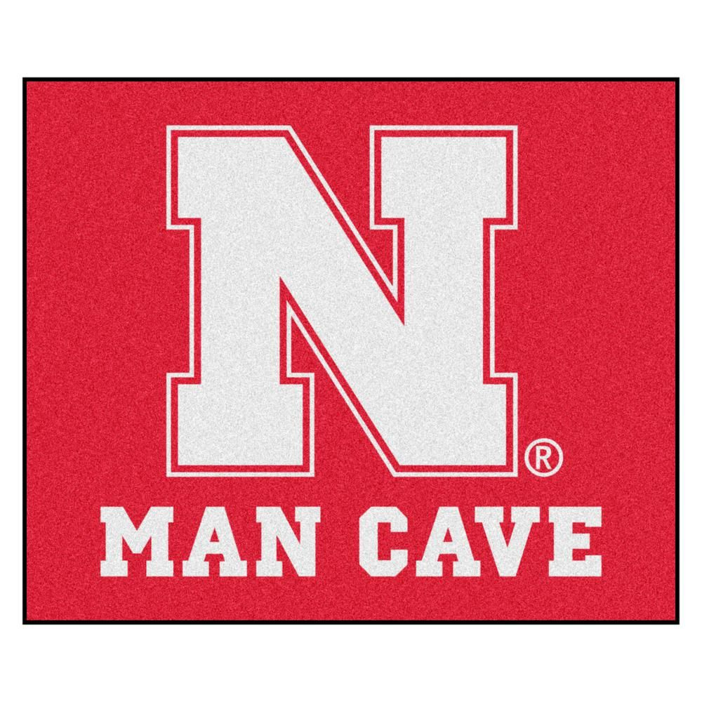 University of Nebraska Red Man Cave 5 ft. x 6 ft. Area Rug
