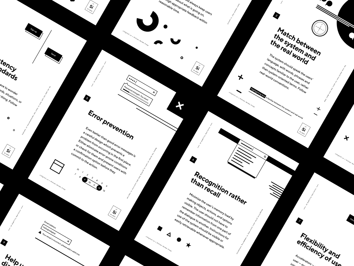 The 10 Usability Heuristics Free Posters For Every Design Office Free Poster Usability User Interface Design