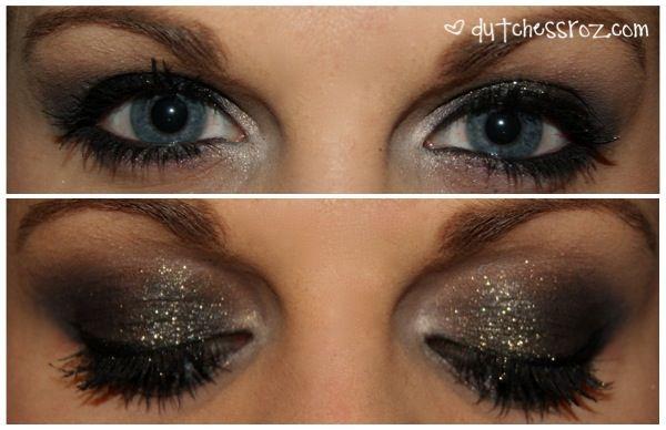 Antique Gold Glitter Smokey Eye